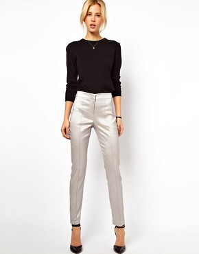 Image 1 of ASOS Skinny Crop Trousers