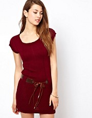 Wal G Knitted Dress With Belt