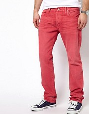 Polo Ralph Lauren Slim Jeans in Red Overdyed Denim