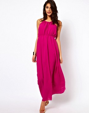 Image 1 ofASOS Maxi Dress With Keyhole Detail
