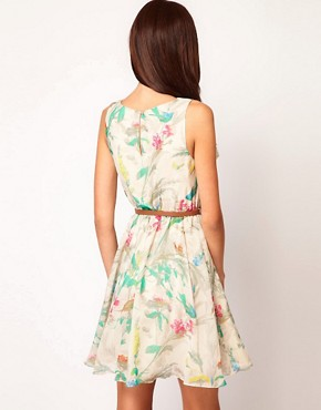 Image 2 ofTed Baker Dress In Paradise Bird Print