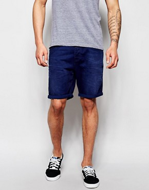 ASOS Denim Shorts In Stretch Slim Fit Mid Length