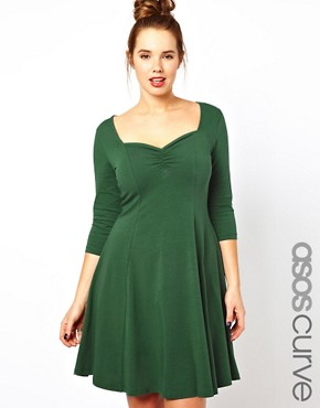 Image 1 ofASOS CURVE Exclusive Sweetheart Dress
