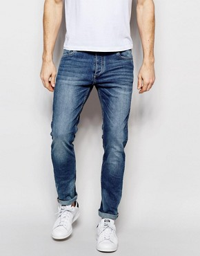 Jack & Jones Light Wash Jeans in Slim Fit with Stretch