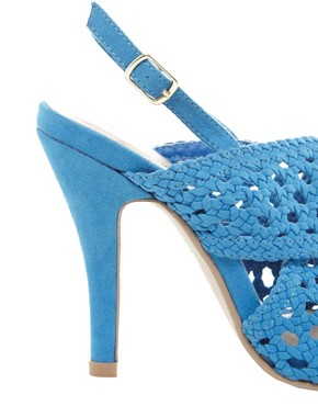 Image 2 of New Look EC Slice Woven Slingback Sandals