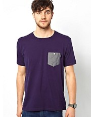 Paul Smith Jeans - T-shirt con tasca in chambray