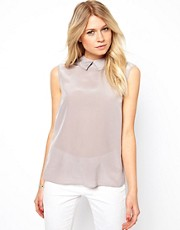 Ted Baker Pleated Back Sleeveless Shirt