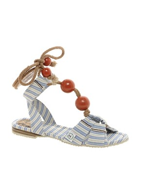 Image 1 ofMiss L-Fire Capri Beaded Sandal