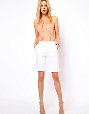 ASOS Linen Shorts In Longline