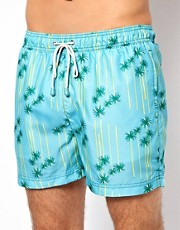 Oiler &amp; Boiler Palm Print Classic Swim Shorts