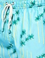 Image 3 ofOiler &amp; Boiler Palm Print Classic Swim Shorts