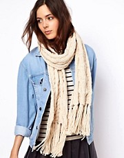 ASOS Cable Scarf With Tassels