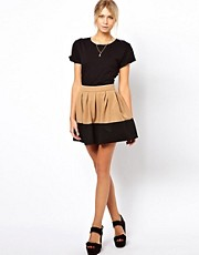 ASOS Skater Skirt in Colour Block