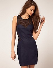 ASOS Denim Dress With Lace