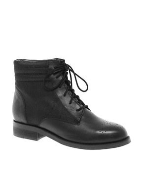 Image 1 ofASOS AMBER Leather Ankle Boots