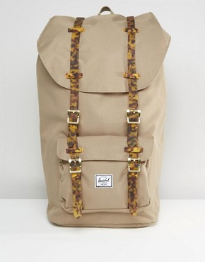 Herschel Supply Co Little America Backpack With Tortoise Shell Straps 25L