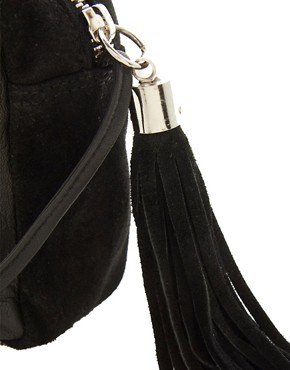 Image 4 ofASOS Leather Metal Bar Across Body Bag