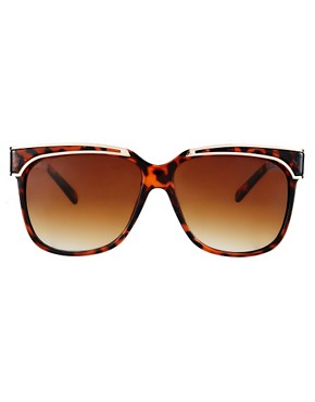 Image 2 of ASOS Oversized Retro Sunglasses With Metal Detailing