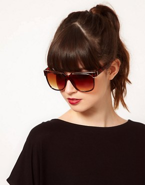 Image 3 of ASOS Oversized Retro Sunglasses With Metal Detailing