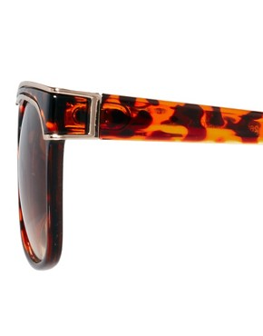 Image 4 of ASOS Oversized Retro Sunglasses With Metal Detailing