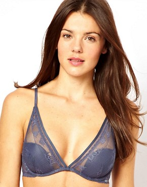 Image 1 ofCalvin Klein Lace &amp; Micro Plunge Bra
