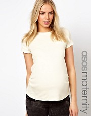 ASOS Maternity Exclusive T-Shirt with Crew Neck and Capped Sleeve