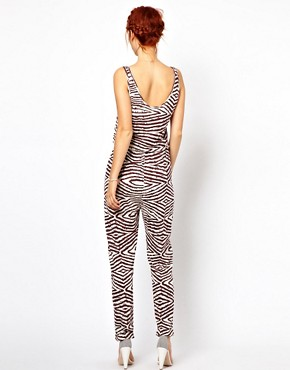 Image 2 ofGanni Jumpsuit in Wood Grain Print