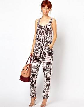 Image 4 ofGanni Jumpsuit in Wood Grain Print