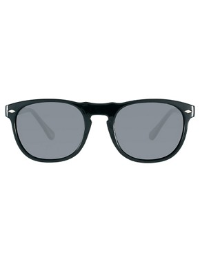 Image 2 ofASOS Round Sunglasses with Peaked Brow