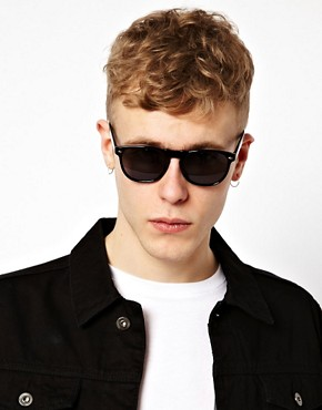 Image 3 ofASOS Round Sunglasses with Peaked Brow