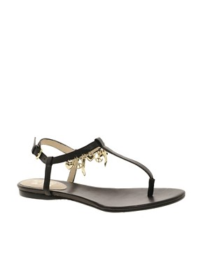 Image 1 ofLove Moschino Lady Love Charmes Flat Sandals