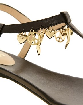 Image 2 ofLove Moschino Lady Love Charmes Flat Sandals