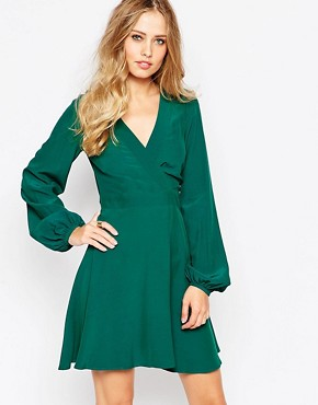 ASOS Skater Dress with Wrap front Detail