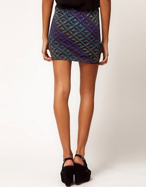 Image 2 ofASOS Ombre Skirt in Glitter Print
