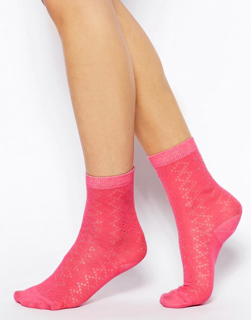 Image 1 of Jack Wills Pointelle Ankle Sock