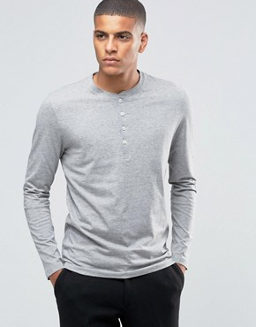 Selected Homme - Top serafino a maniche lunghe