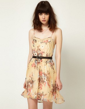 Image 1 ofLottie and Holly Slip Dress in Chiffon Floral