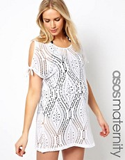 ASOS Maternity Kaftan In Lace