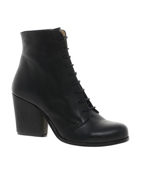 Image 1 ofD.Co Copenhagen Mascara Lace Up Mid Heeled Boot