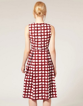 Image 2 ofASOS Midi Dress in Check Print