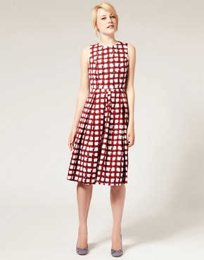 Image 4 ofASOS Midi Dress in Check Print