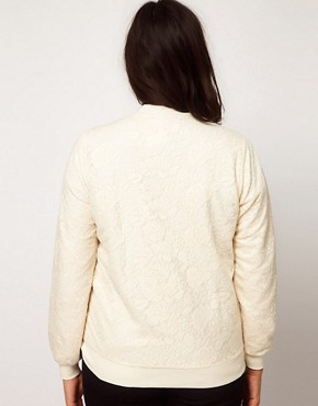 Image 2 ofASOS CURVE Bomber Jacket in Lace