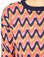 Image 3 of Vero Moda Zig Zag Intarsia Knit Sweater