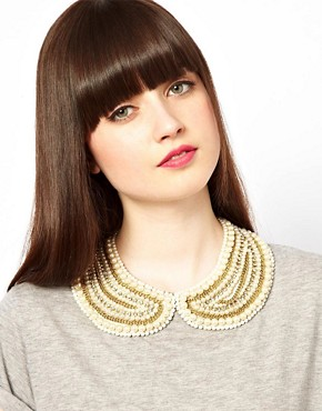 Image 1 ofASOS Pearl Collar With Chain Detail