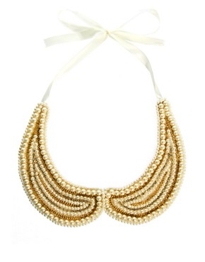 Image 2 ofASOS Pearl Collar With Chain Detail