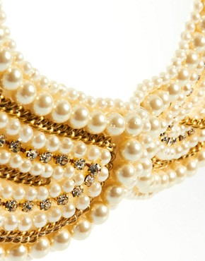 Image 3 ofASOS Pearl Collar With Chain Detail