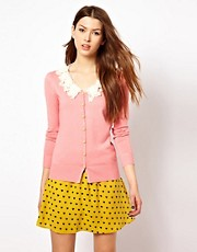 Max C Bow Collar Cardigan