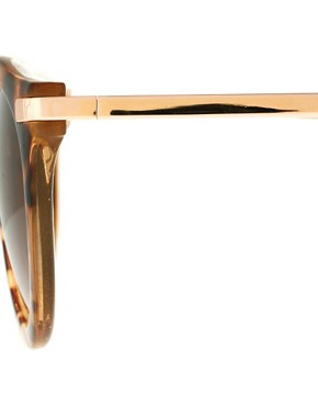 Bild 4 von ASOS  bergroe Retro-Sonnenbrille mit Metallsteg