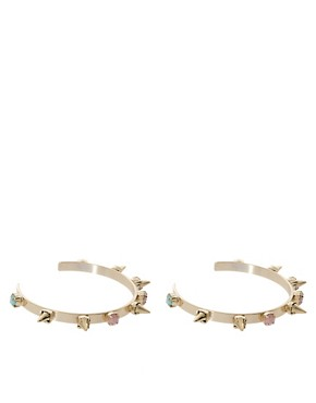 Image 1 ofASOS Pack of Two Pastel Spike Cuffs