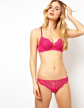 Image 4 ofGossard Super Boost Lace Raspberry Fizz Padded Plunge Bra